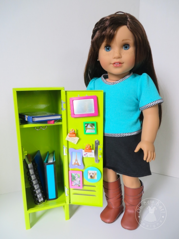 Grace Thomas American Girl Doll with school locker