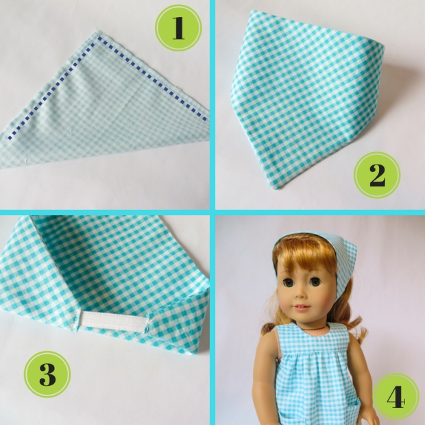 sewing pattern for doll size head scarf