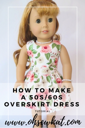 Maryellen doll dress pattern 50s inspired