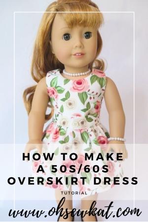 Maryellen doll dress pattern 50s inspired