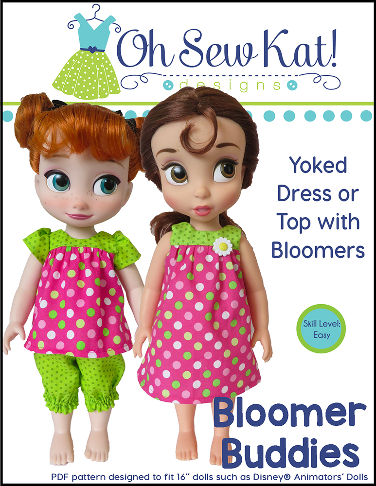 Dress top bloomer sewing pattern for Animators Dolls