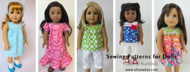 Bloomers top and dress sewing pattern for dolls