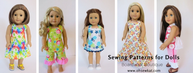 Sewing doll clothes pants halter top OhSewKat