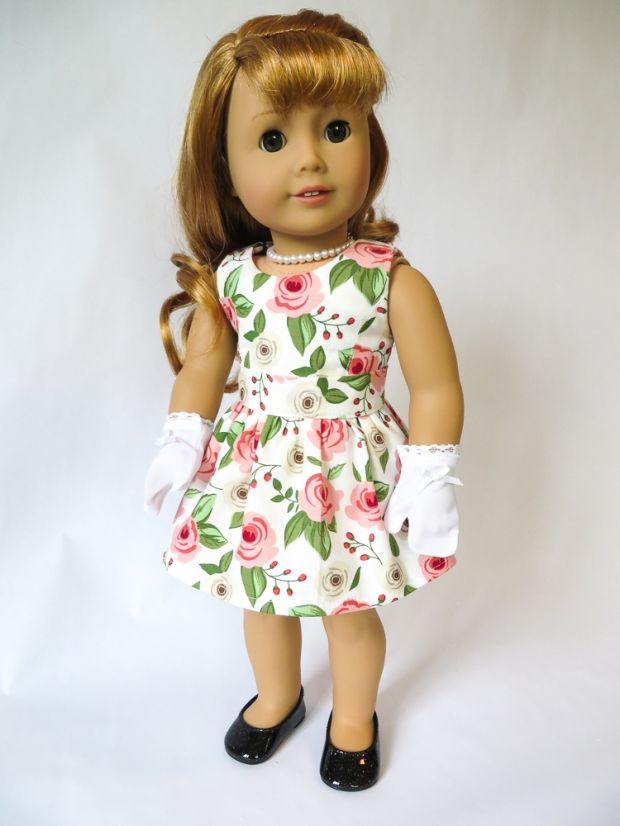 50s inspired overskirt dress for Maryellen doll