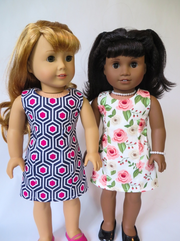 Make a 50's outfit for Maryellen or Melody. DIY 50's 60's American Girl Doll Clothes with easy sewing PDF patterns from Oh Sew Kat! Blog with craft tutorials and free skirt pattern. #ohsewkat #dollclothes #50s #dress #maryellen #sewing