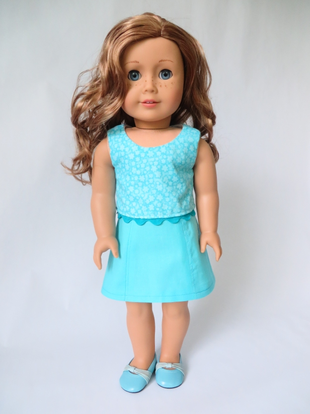 Nicki Fleming American Girl Doll Sixth Grade Skirt Popsicle Top