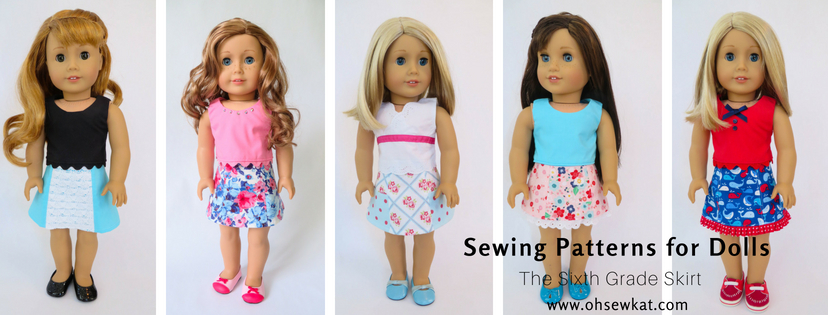 Doll Skirt Sewing pattern by oh sew kat
