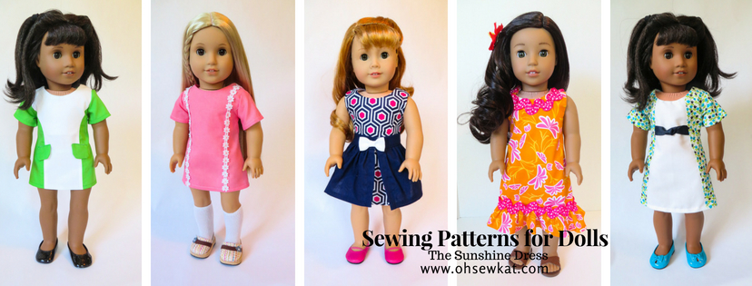 Sunshine Dress Sewing Pattern for Dolls