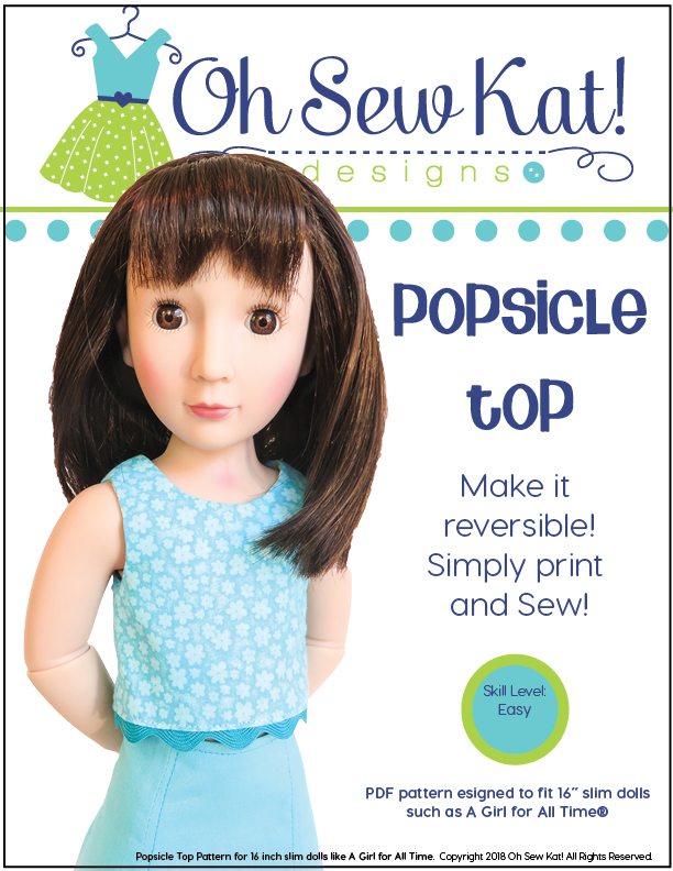 A Girl for All Time doll clothes sewing pattern