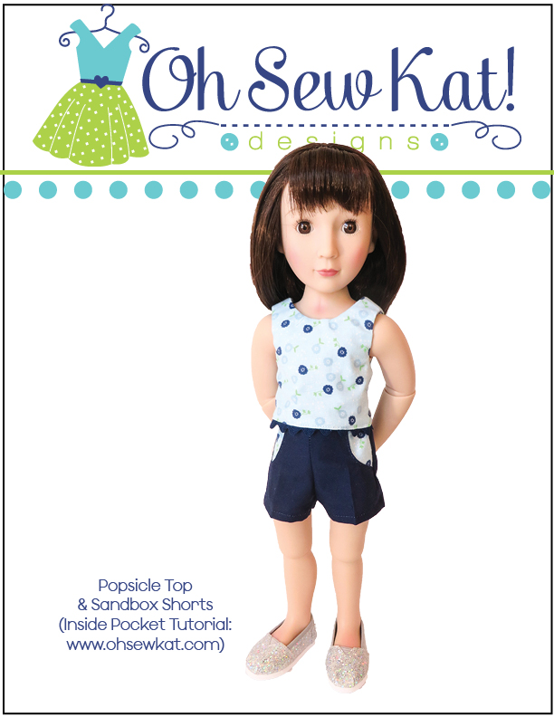 Doll clothes sewing pattern doll top