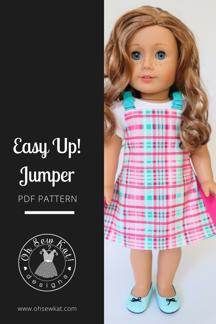 Sewing pattern for dolls Easy Up! Jumper by ohsewkat