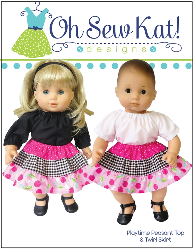 Bitty Baby sewing pattern by Oh Sew Kat!