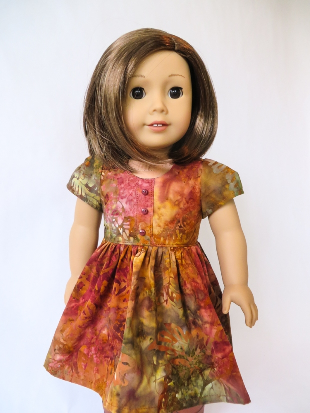 Best Sewing Pattern for 18 inch American Girl Doll Clothes by ohsewkat. Sugar n Spice easy PDF pattern. Free skirt pattern at ohsewkat.com. #ohsewkat #dolldress #sewingpattern #18inchdoll #americangirldoll