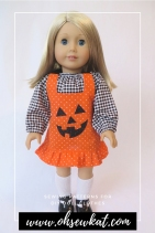 18 inch doll sewing patterns by Oh Sew Kat! Boardwalk Boutique is easy and quick to sew! Free skirt pattern for 18 inch sized dolls.