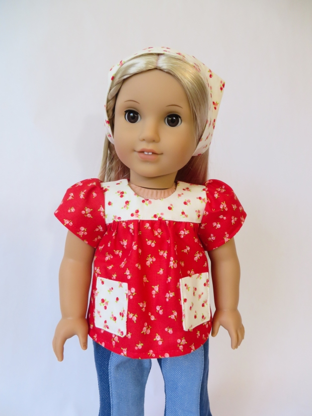 Doll clothes sewing pattern tutorial by ohsewkat for doll clothes for Julie BeForever doll. #easypattern #sewingpattern #tutorial #americangirl #dollclothes #ohsewkat