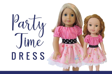 Easy sewing patterns for dolls like American Girl, PDF patterns for DIY Doll Clothes.