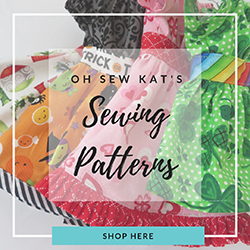 Find an entire collection of easy to sew, print at home PDF sewing patterns for classic doll clothes from Oh Sew Kat!