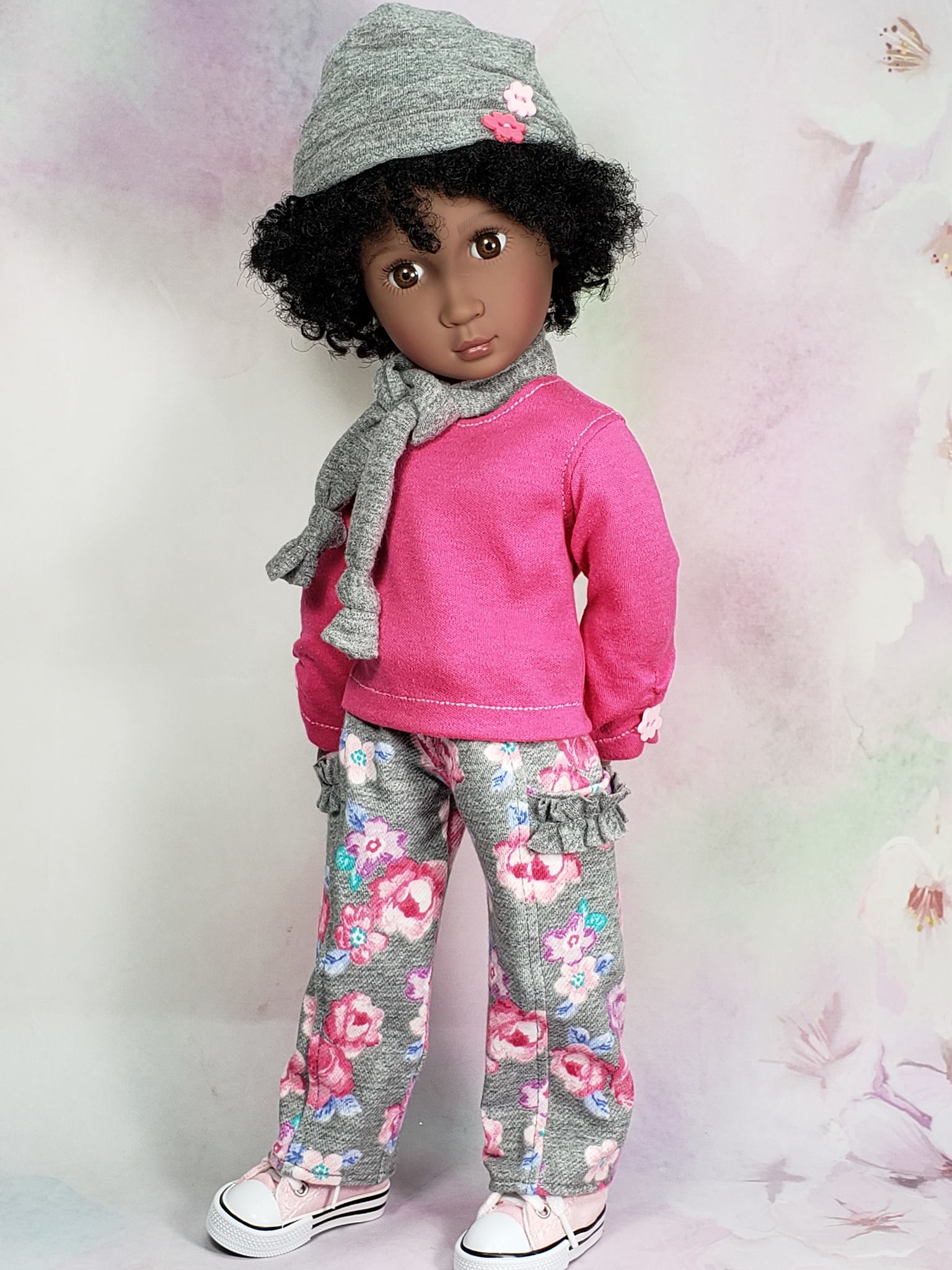 Make a simple pair of pants for your A Girl for All Time Doll with the easy Playground Pants PDF Sewing Pattern by Oh Sew Kat! Other styles and sizes available on Etsy. #agirlforalltime #sewingpatterns #dollclothes #ohsewkat #bex