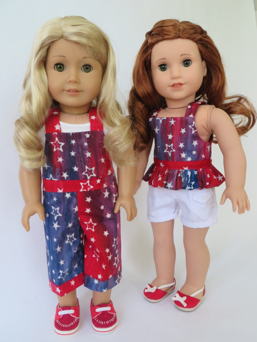 Homemade Doll Clothes-4th Of July Red//White//Blue Shirt that fits Ken Doll B5