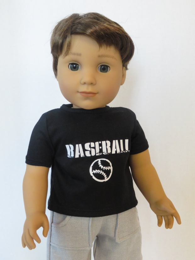 Make graphic tees for dolls with HTV and a cricut machine. Easy tutorial by OH Sew Kat. Find sewing patterns for popular sized doll clothes.
