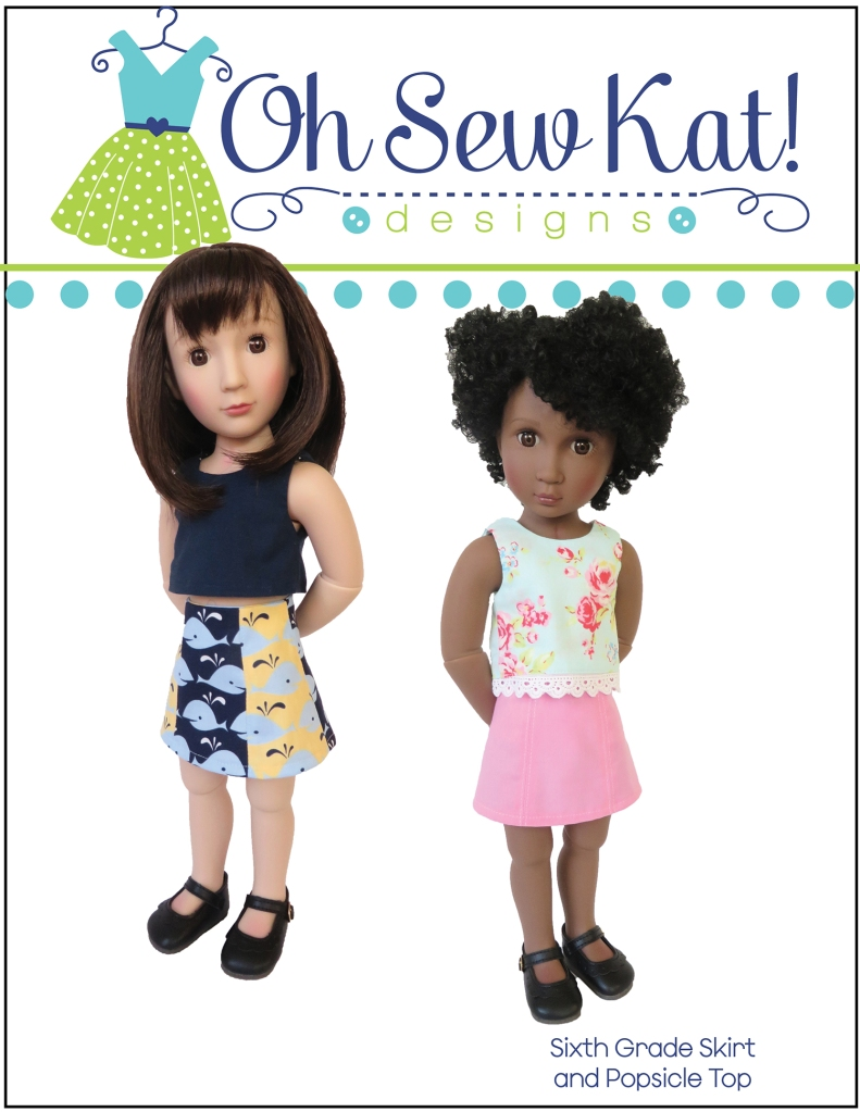 A Girl for All Time Sewing Pattern- The Sixth Grade Skirt by Oh Sew Kat! Quick and easy to sew, perfect for beginners. #ohsewkat #agirlforalltime