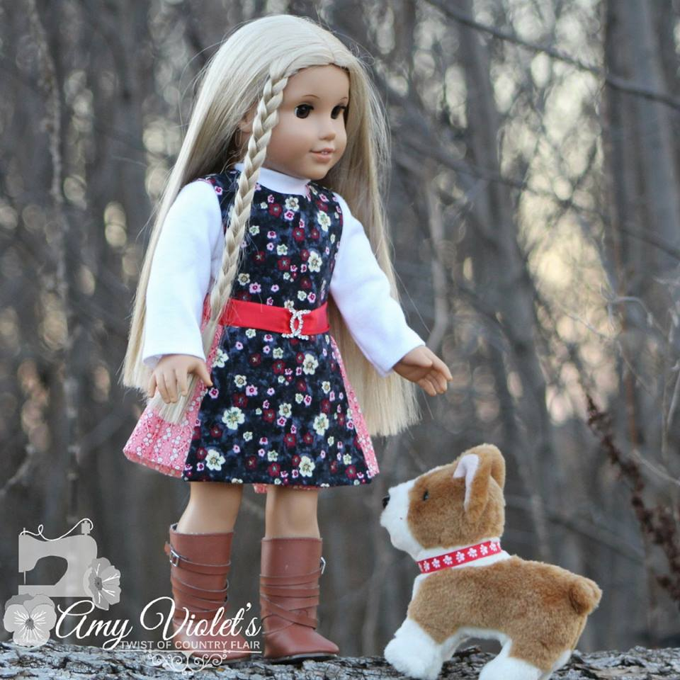 Sew two outfits at once with the Jumping Jack PDF sewing pattern for 18 inch and similar sized dolls. Oh Sew Kat! offers beginner level sewing patterns for dolls in popular sizes. #ohsewkat #dollclothes