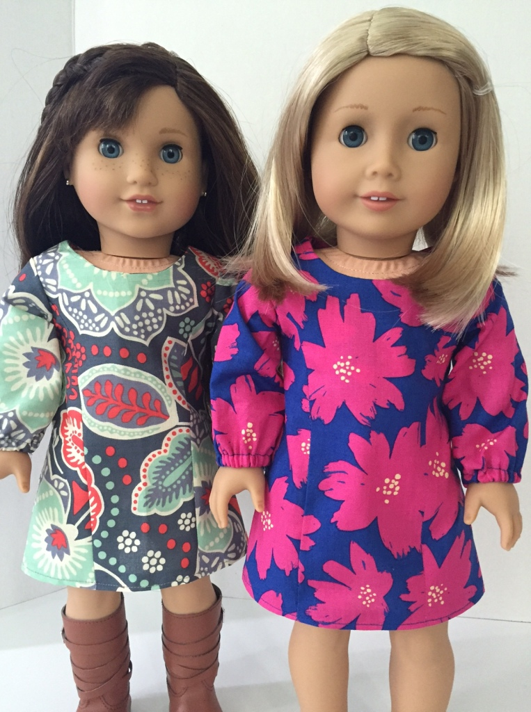 Vera Bradley School Dance Dresses. Easy sewing pattern for 18 inch dolls by OH Sew Kat. Digital PDF patterns in popular doll sizes.
