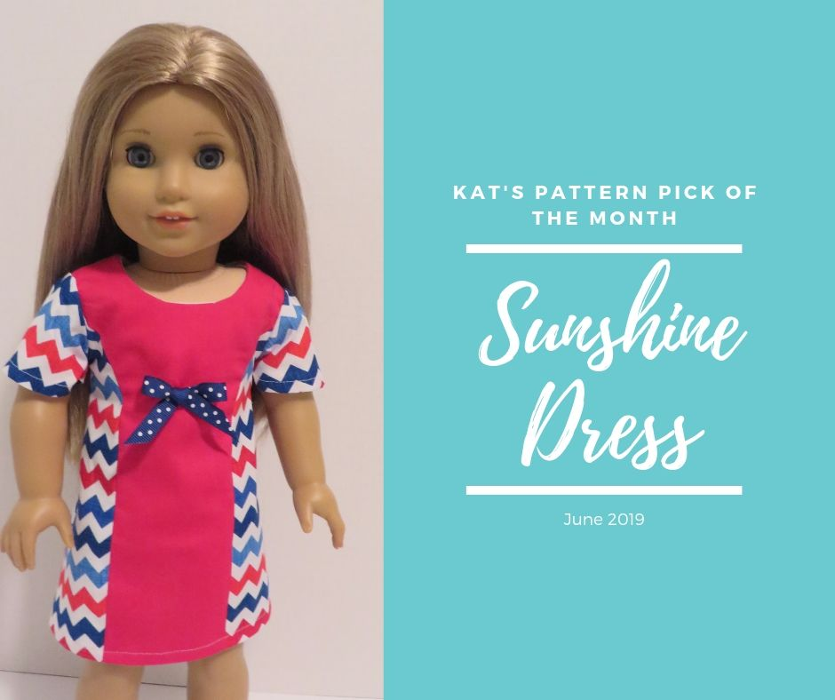 Oh Sew Kat! pattern pick of the month- Sunshine Dress. Find this easy pattern in three sizes from Oh Sew Kat