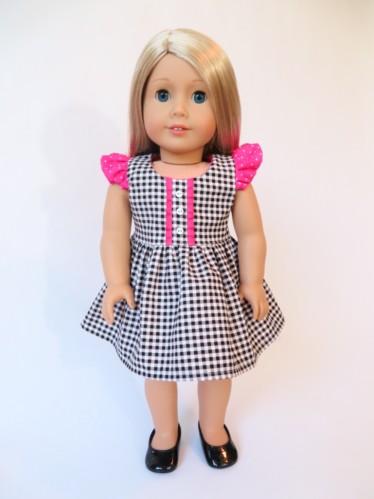 American Girl Doll Clothes Sewing Patterns for beginning level sewing.  Use Oh Sew Kat! PDF sewing patterns to make your own 18 inch doll clothes.  #18inchdoll