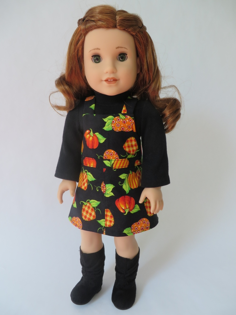 Pumpkin spice and everything nice. Make your 18 inch doll a fall outfits with easy sewing patterns from Oh Sew Kat~