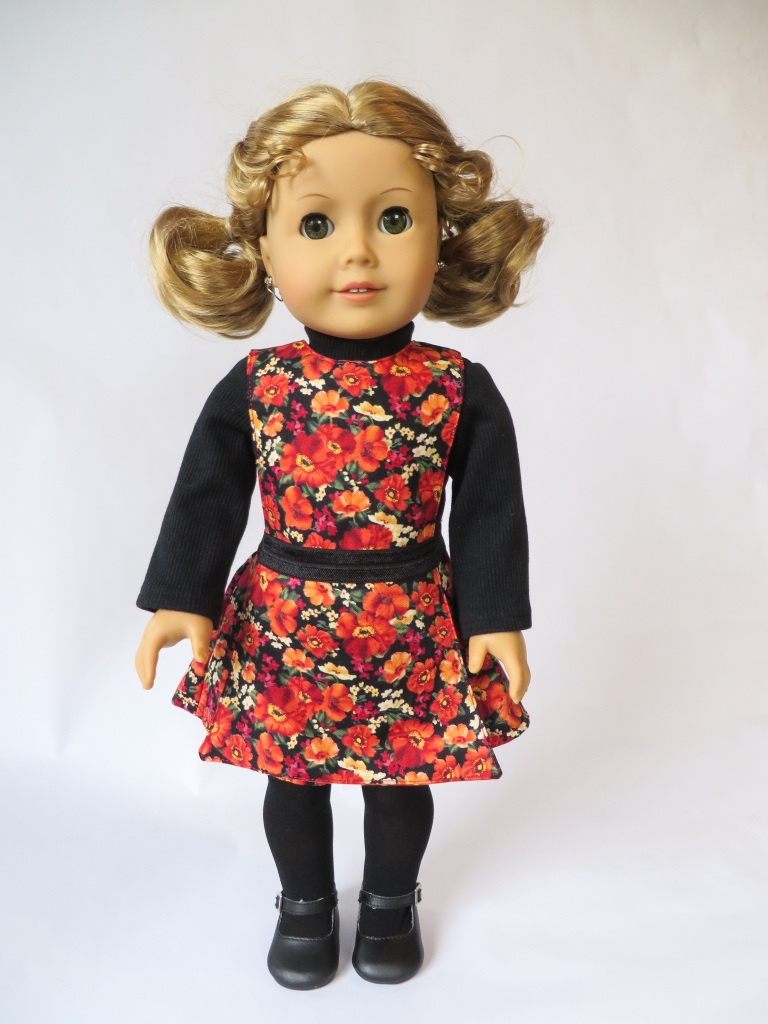 Jumping Jack sewing pattern for 18 inch dolls- shorts - turtleneck shirt- reversible jumper for American girl sized dolls by Oh sew Kat!