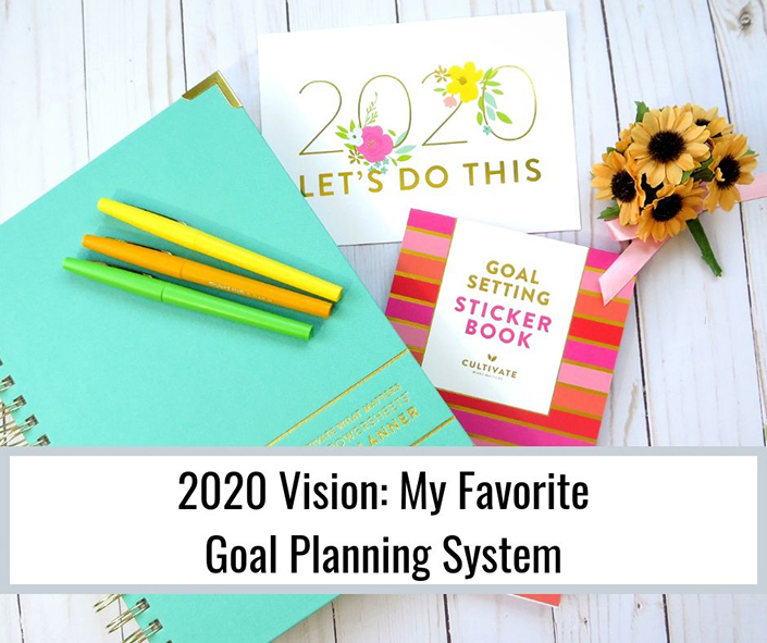 Keep your vision clear for 2020 with a beautiful goal planning system from Cultivate What Matters.
