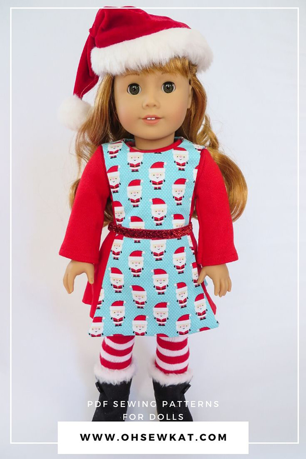 PDF Sewing Patterns to make 18 inch doll clothes for dolls like American Girl by ohsewkat. Find the full selection in my Etsy shop!