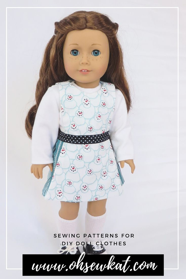 Make 18 inch doll clothes for American Girl dolls with easy sewing patterns from ohsewkat. Find the full selection in my Etsy shop!