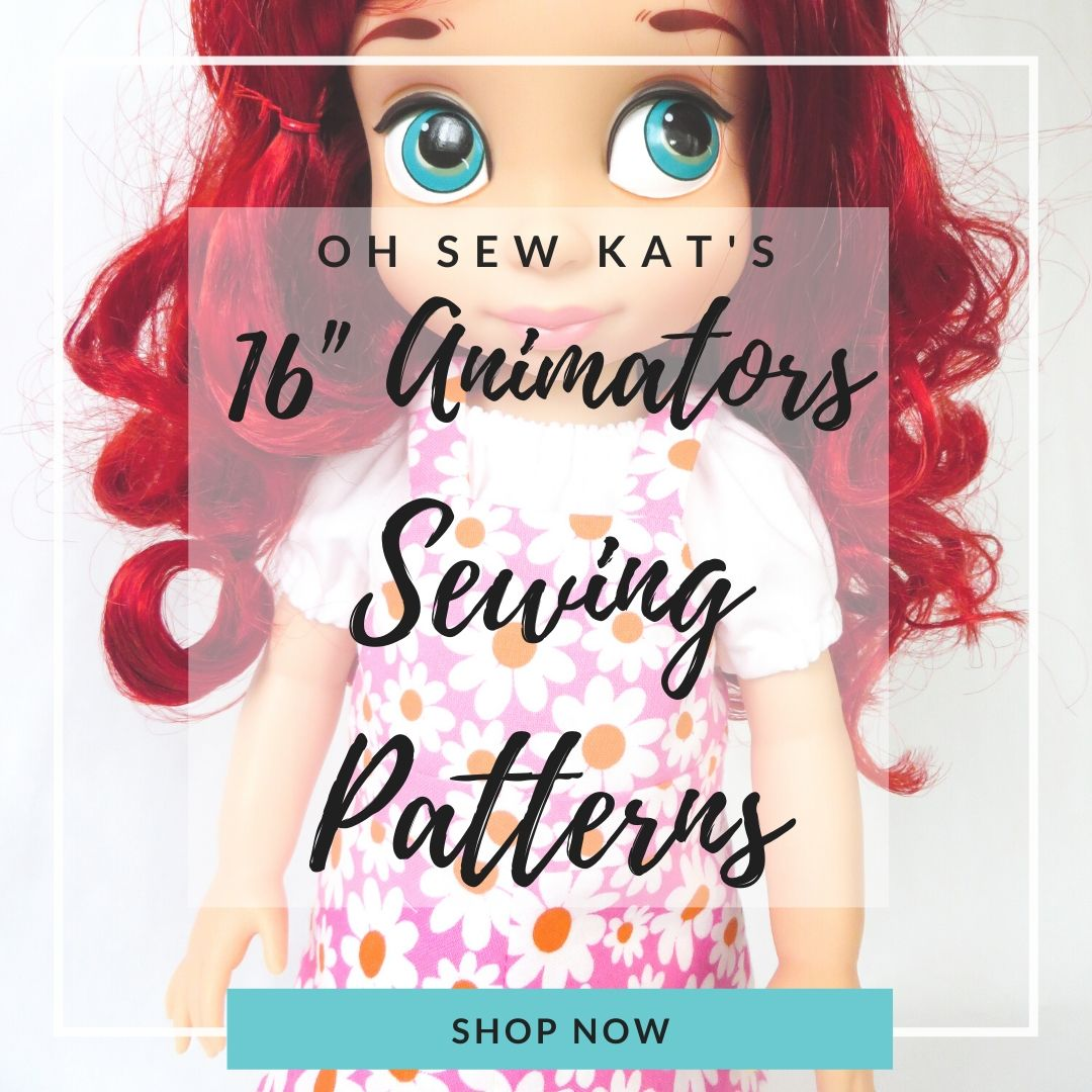 Free Animators Skirt PDF Sewing Pattern from Oh Sew Kat