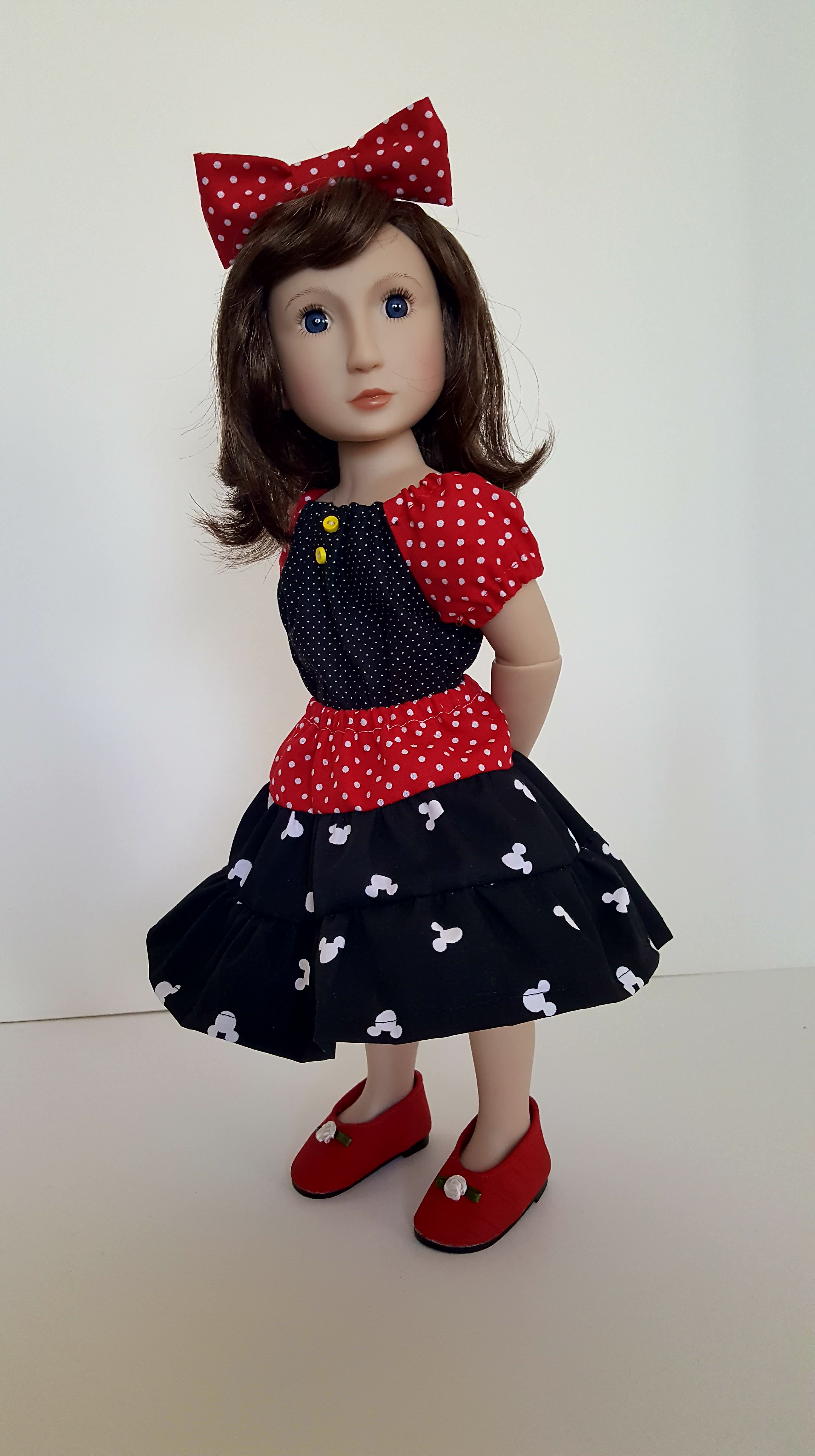 Make a peasant top and prairie skirt for the A Girl for All Time dolls with easy PDF Sewing patterns from Oh Sew Kat! on Etsy
