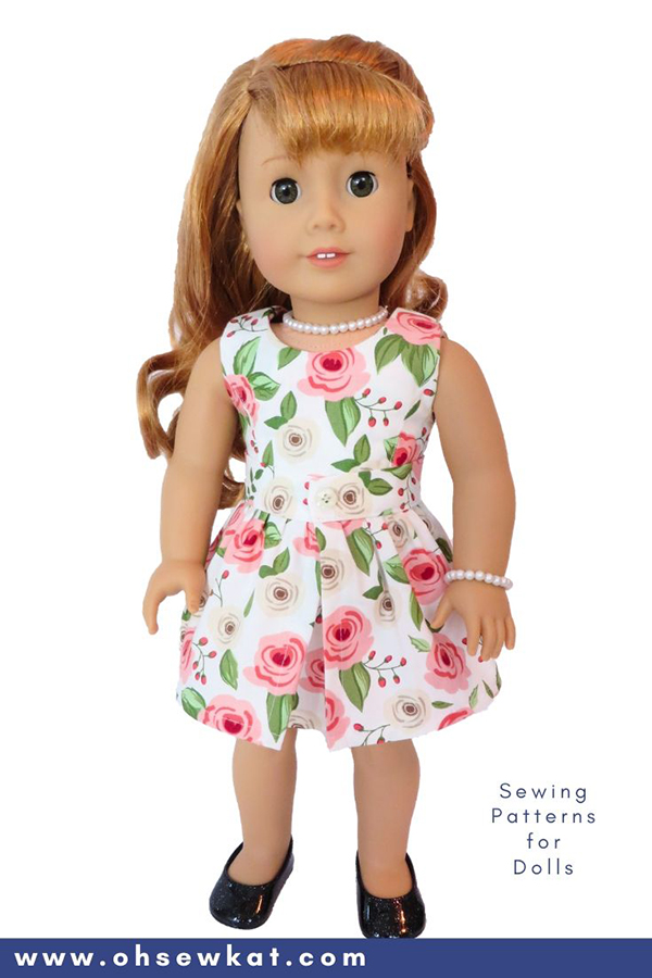DIY doll clothes sewing patterns for Maryellen Larkin 18 inch American Girl Doll. Easy to sew PDF Patterns from OhSewKat.