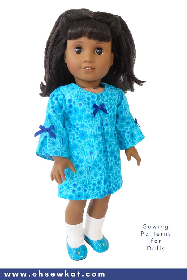 DIY doll clothes sewing patterns for Melody Ellison 18 inch American Girl Doll. Easy to sew PDF Patterns from OhSewKat.