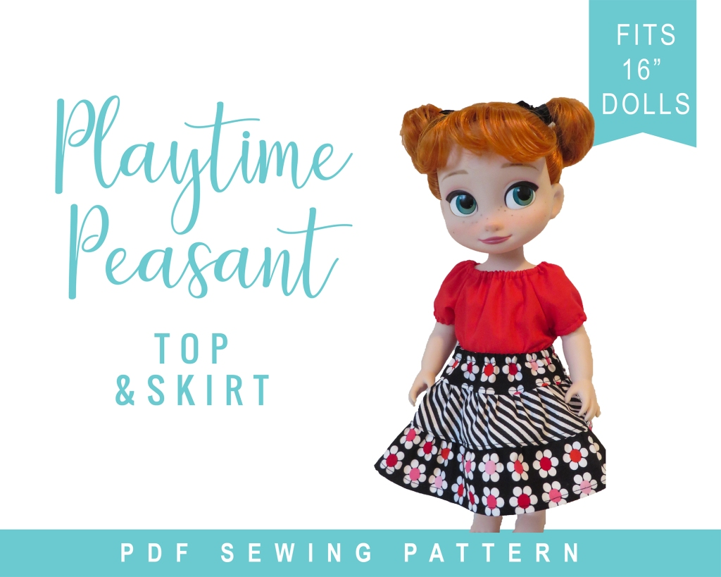 Easy to sew PDF Sewing pattern for Animators Dolls by Oh Sew Kat