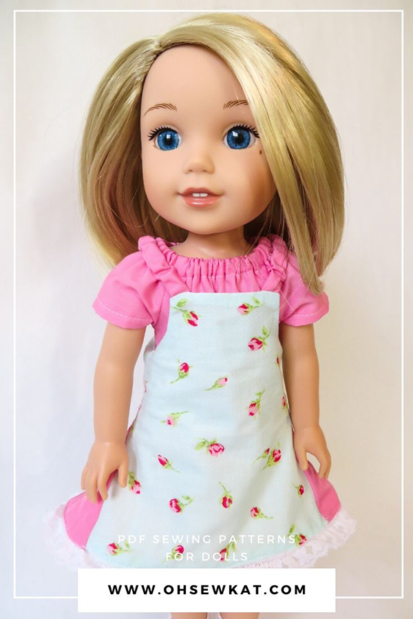 Make diy doll clothes for your 14.5 inch dolls like Wellie Wishers, Style Girls, and Glitter Girls.  Easy to sew beginner level PDF doll clothes patterns are available in the Oh Sew Kat! etsy shop.