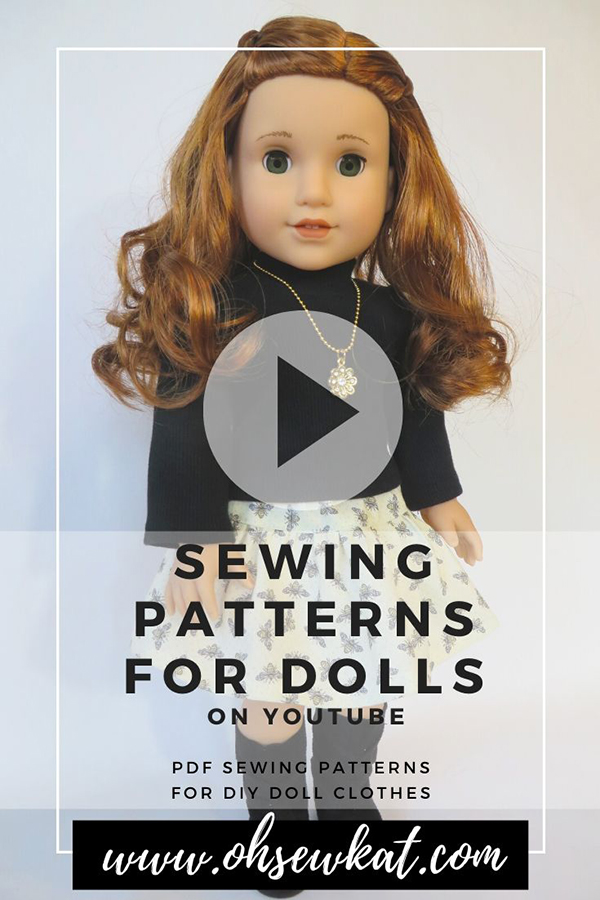 Find more Oh Sew Kat! on our YouTube channel. Inspiration videos, tutorials, pattern hacks and more! FInd OH Sew Kat easy sewing patterns for 18 inch and other sized dolls on Etsy.