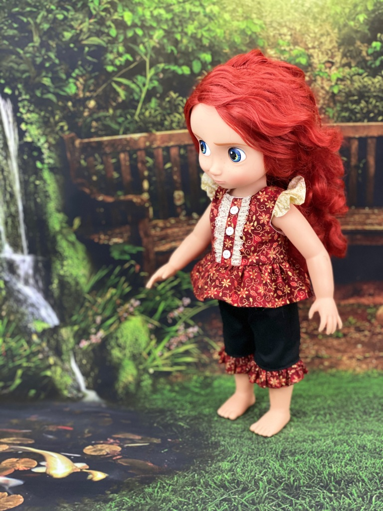 Easy sewing pattern for animators dolls by oh Sew Kat, the Spring Shine Dress PDF pattern is simple enough for beginners. Find more sewing patterns for dolls in my Etsy Shop.