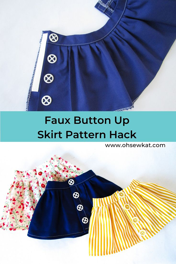 Use easy PDF sewing patterns from Oh Sew Kat to make your 18 inch dolls some quick and easy outfits. Great first time beginner sewing project, print your patterns at home. Find a full selection of easy patterns with full tutorials in the OhSewKat etsy shop.