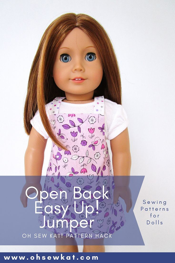 Use beginner level Oh Sew Kat! Pdf sewing patterns to make beautiful doll clothes for your 18 inch dolls like American Girl with print at home photo tutorial patterns. Large selection in 5 popular doll sizes in OhSewKat shop on Etsy.
