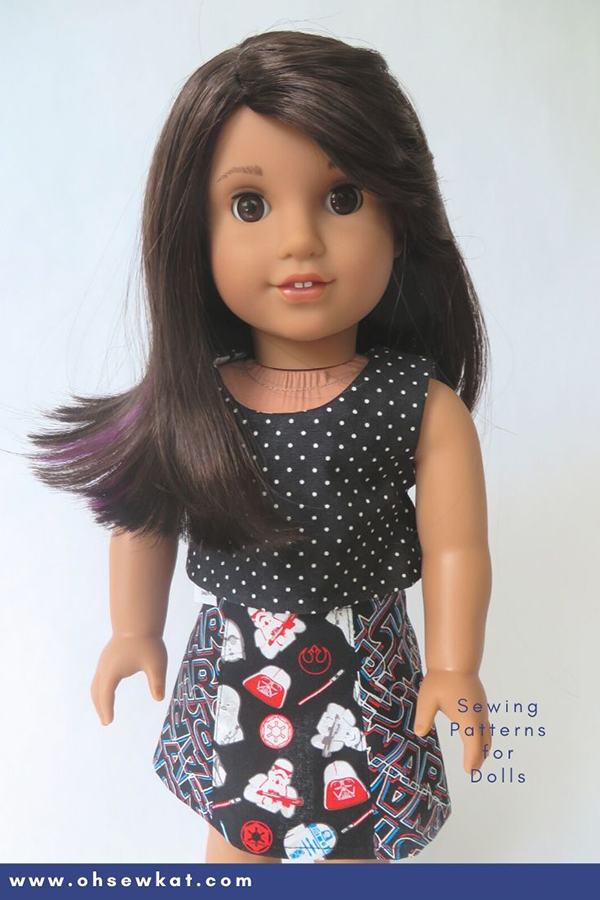 Make fun and easy Star Wars themed outfits for 18 inch dolls like American Girl with easy PDF sewing patterns from Oh Sew Kat! Find other doll sizes and many more pattern tutorials in my etsy shop. Great beginner project for stay at home fun! May the Fourth be With You!
