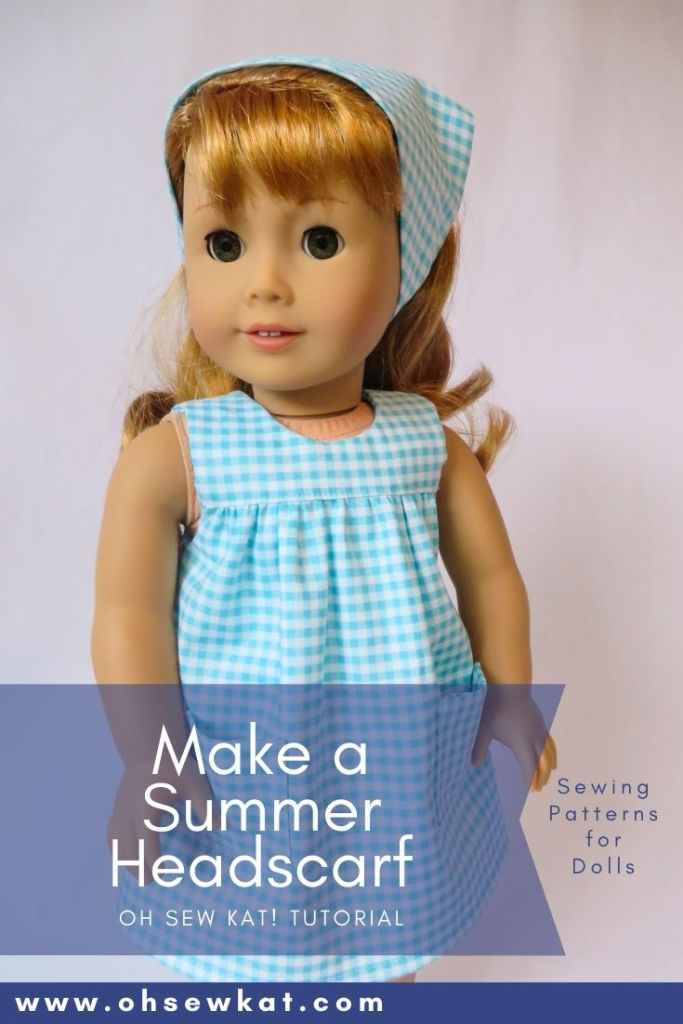 50s scarf doll tutorial by Oh Sew Kat! Easy sewing patterns for beginners to print and sew at home.