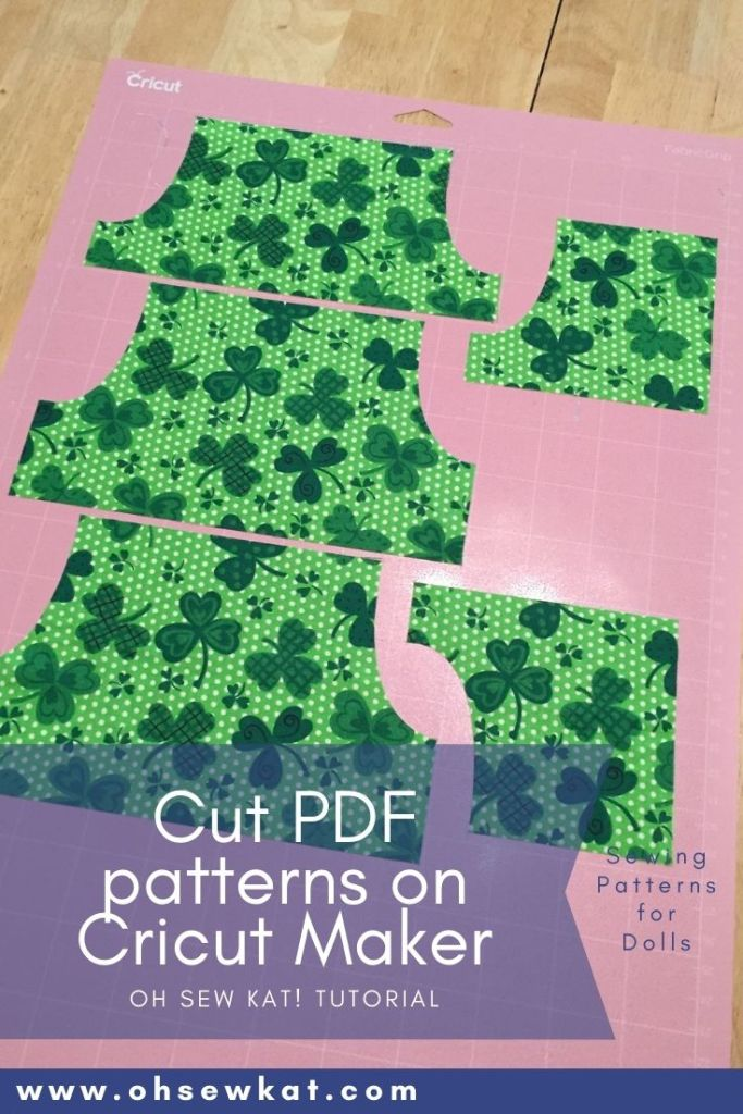 How to cut pdf patterns on the cricut maker tutorial - make your doll clothes projects even faster with this cricut Maker machine and Oh Sew Kat! 18 inch PDF sewing patterns.