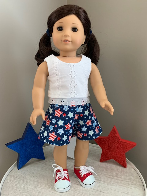 Use easy to sew PDF sewing patterns from OH SEW Kat to make your 18 inch American Girl dolls fun and festive outfits. Mix and match fabrics and patterns to create your own, handmade, one of a kind doll wardrobe. Simple tutorials with photos and print at home pattern pieces will make you a sewing expert in no time.