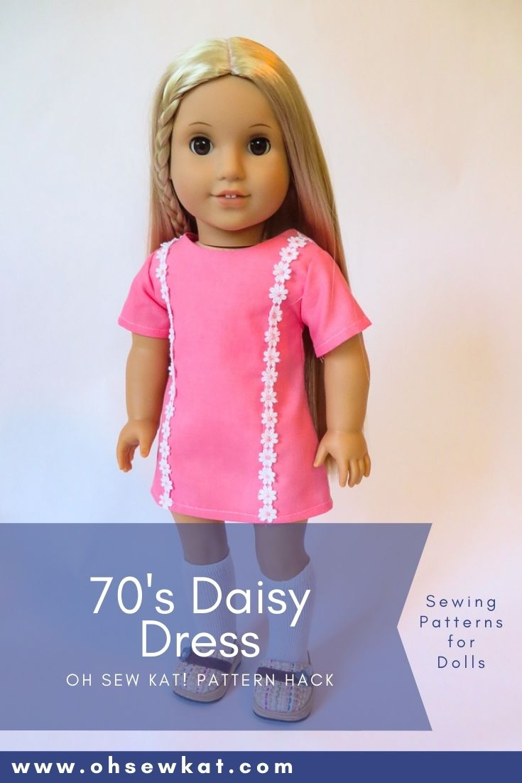DIY 70s doll clothes for American Girl doll Julie Albright with easy to sew PDF patterns and tutorials from Oh Sew Kat!