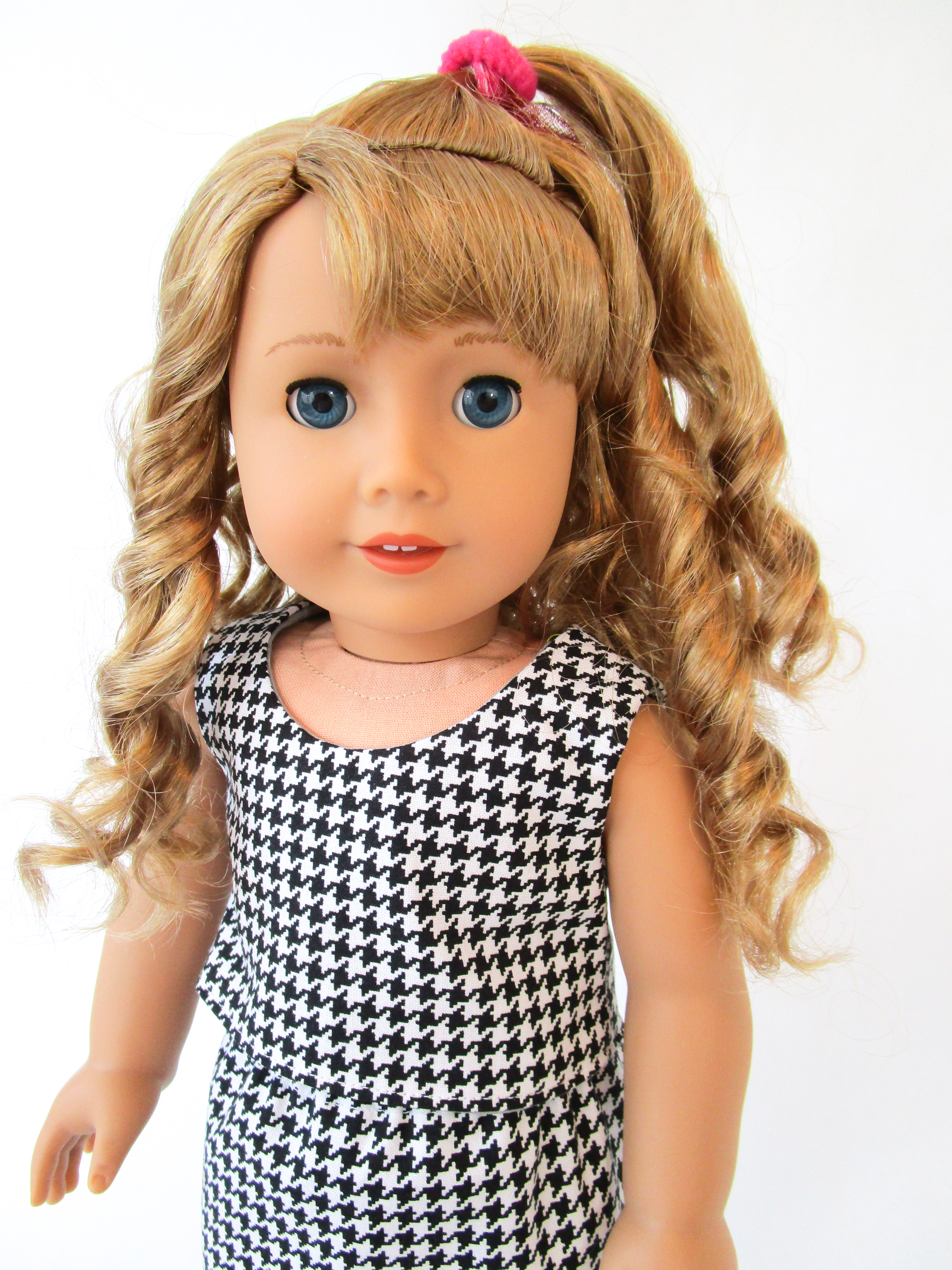 80s style top for American Girl doll Courtney sewing pattern by OH Sew Kat